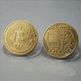 Bitcoin novčić-kovanica, Pozlaćena