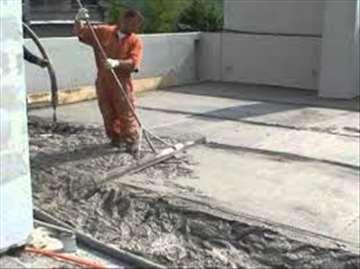 Laki betoni: estrih, sloj za pad, termoizolacije