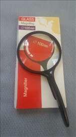 Lupa 4x uvećanje promer 100 mm staklo