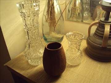 tri prelepe vaze.braon-keramicka,druge dve-bruseno