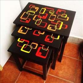 Retro klub stolovi, set