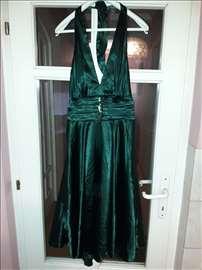 Predivna haljina zagasito zelene boje za maturu il