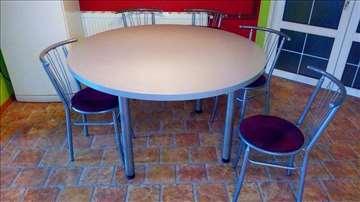 Sto okrugao i stolice
