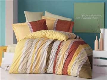 Pamučne posteljine za francuski ležaj