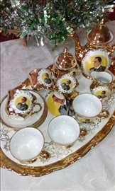 Kolekcionarski set sa caj/kafu tito pozlata