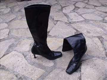 Crne ženske čizme 36