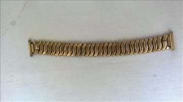 Metalna rastegljiva narukvica za sat,pozlata