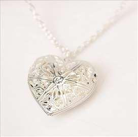 SREBRNO SRCE - ogrlica sa priveskom u obliku srca