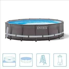 427x107 cm Intex full oprema / braon / novo