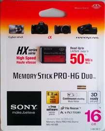 SONY Memory Stick Pro duo 16Gb HX series