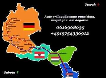 Prvoz putnika Srbija-Nemačka