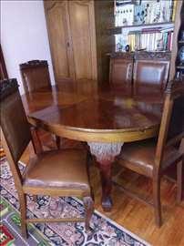 Stilski i trpezarijski sto i stolice