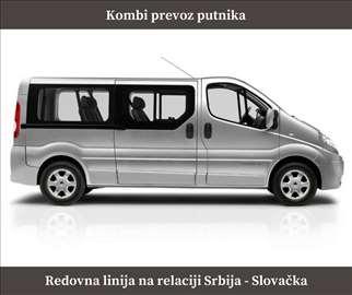 Kombi prevoz putnika na relaciji Srbija - Slovačka