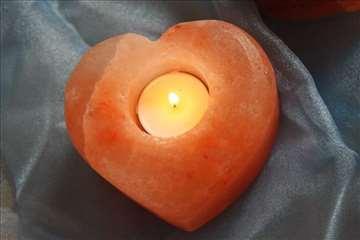Svećnjak od himalajske soli - Srce