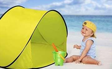 Pop-up - šator za plažu - nov - veliki - 2 sekunde