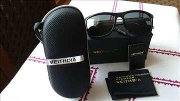 Veithdia Retro Clubmaster Wayfarer BlackSilver