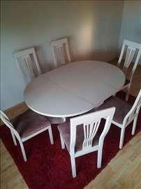 Prodajem trpezarijski sto sa 6 stolica