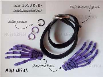 Ljubičasto crni set nakita