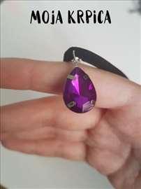 Ljubičasto purpurna čoker ogrlica