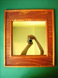 Novo Ogledalo sa Drvenim Ramom