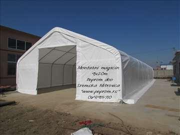 Montazne hale - industrijski šatori 9x20m, 180m2