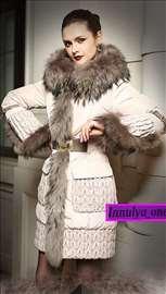 Zimska jakna s prirodnim krznom