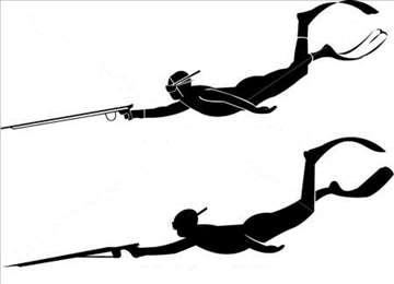 Podvodni ribolov, gume za ronilačku pušku, harpun