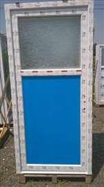PVC vrata 1/3 staklo 90x200