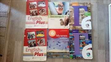 Udžbenici za 6. i 5. razred sa slike