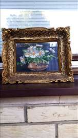 Original Wiehler Gobelin Daisy Flowers