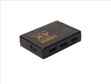 HDMI 4K 1.4b 3D razdelnik , switch + daljinski