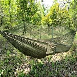 Ležaljka, kamp krevet sa mrežom protiv komaraca
