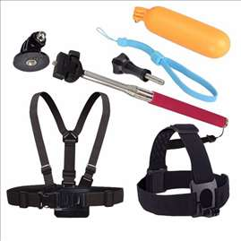 Set tripod monopod Chest Belt Head Mount Strap