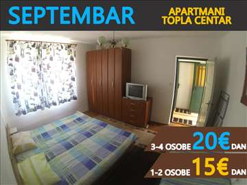 Herceg Novi, trokrevetni apartman septembar