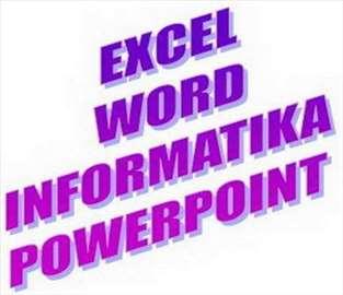 Excel, Word, informatika, podučavanje