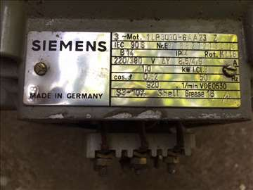 Elektromotor Siemens 1kW 220/380V 980 o/min