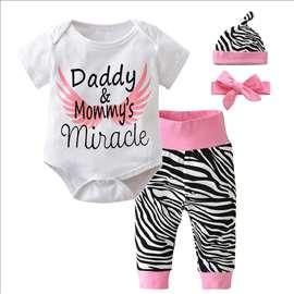 Komplet za bebe 4 kom. Zebra print sl.A