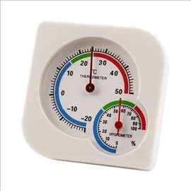 Precizan kućni mehanički termometar i higrometar