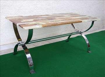 Unikat mesingani sto sa pločom od oniksa