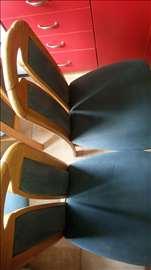 Stolice od punog drveta,4 komada