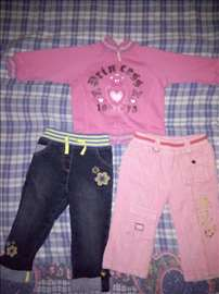 2 pantalonice i duksercic