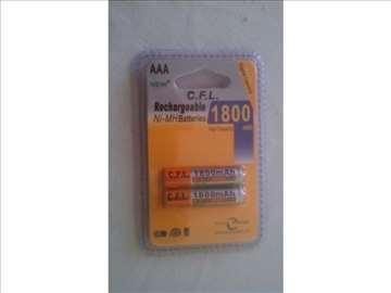 NOVO punjive baterije AAA 2 KOMADA 1800mA