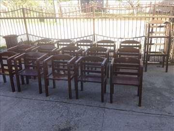 Stolice od bukovine 16 komada - povoljno