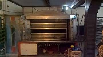 Pekarska pec,mikser za testo i hladna vitrina