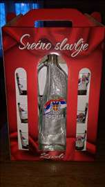 Flaša sa 6 čašica za žestinu (Srbija)