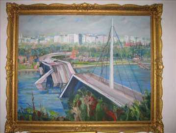 Petar Mojak, ulje na lesonitu 167x140 cm