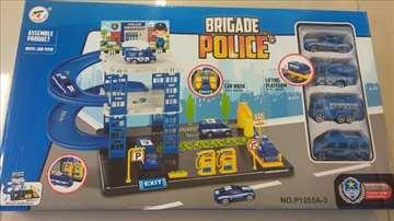Policijska garaža set igračka