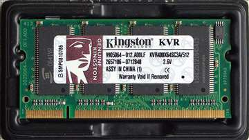 Laptop memorija Kingston 2xDDR400 512MB
