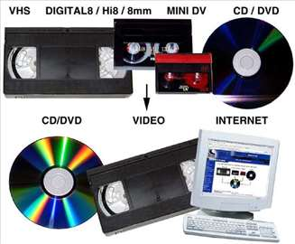 Presnimavanje VHS  High 8  Video 8  Mini DV na DVD