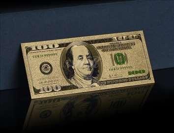 100 dolara, pozlaćena, REPLIKA, Lucky Dollar